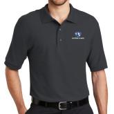 Charcoal Easycare Pique Polo-Eastern Illinois Logo