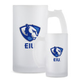 Full Color Decorative Frosted Glass Mug 16oz-Eastern Illinois Secondary