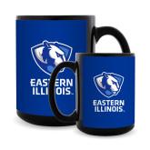 Full Color Black Mug 15oz-EIU Primary Logo