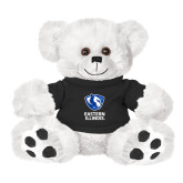 Plush Big Paw 8 1/2 inch White Bear w/Black Shirt-EIU Primary Logo