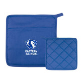 Quilted Canvas Royal Pot Holder-EIU Primary Logo