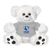 Plush Big Paw 8 1/2 inch White Bear w/Grey Shirt-EIU Primary Logo