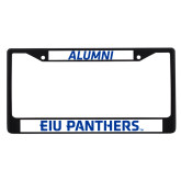 Alumni Metal License Plate Frame in Black-EIU Panthers
