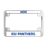 Metal Motorcycle License Plate Frame in Chrome-EIU Panthers