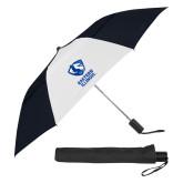 42 Inch Slim Stick Black/White Vented Umbrella-EIU Primary Logo