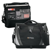Slope Black/Grey Compu Messenger Bag-Eureka College w/ Shield