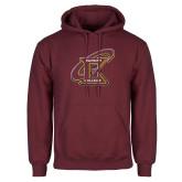 Maroon Fleece Hoodie-Primary Athletic Mark