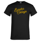 Black T Shirt-Fancy Script