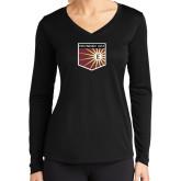 Ladies Syntrel Performance Black Longsleeve Shirt-Shield
