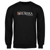 Black Fleece Crew-Eureka College w/ Shield