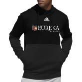 Adidas Black Team Issue Hoodie-Eureka College w/ Shield