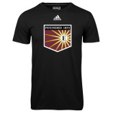 Adidas Climalite Black Ultimate Performance Tee-Shield