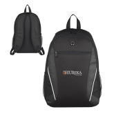 Atlas Black Computer Backpack-Eureka College w/ Shield