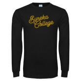 Black Long Sleeve T Shirt-Fancy Script
