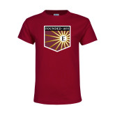 Youth Maroon T Shirt-Shield