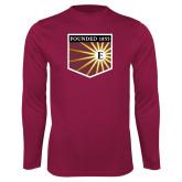 Performance Maroon Longsleeve Shirt-Shield