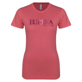 Next Level Ladies SoftStyle Junior Fitted Pink Tee-Wordmark Foil