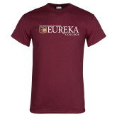 Maroon T Shirt-Eureka College w/ Shield