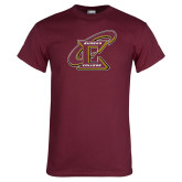 Maroon T Shirt-Primary Athletic Mark