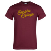 Maroon T Shirt-Fancy Script