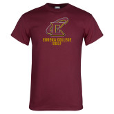 Maroon T Shirt-Golf
