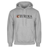 Grey Fleece Hoodie-Eureka College w/ Shield