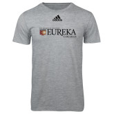 Adidas Sport Grey Logo T Shirt-Eureka College w/ Shield