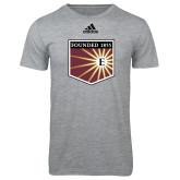 Adidas Sport Grey Logo T Shirt-Shield