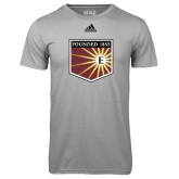 Adidas Climalite Sport Grey Ultimate Performance Tee-Shield
