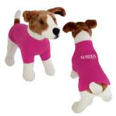 Classic Fuchsia Dog T Shirt-Wordmark