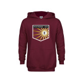 Youth Maroon Fleece Hoodie-Shield