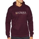 Adidas Maroon Team Issue Hoodie-Eureka College w/ Shield