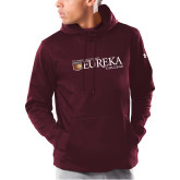 Under Armour Maroon Armour Fleece Hoodie-Eureka College w/ Shield