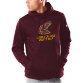 Under Armour Maroon Armour Fleece Hoodie-Volleyball