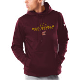 Under Armour Maroon Armour Fleece Hoodie-Volleyball Lines
