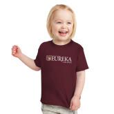 Toddler Maroon T Shirt-Eureka College w/ Shield