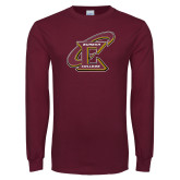 Maroon Long Sleeve T Shirt-Primary Athletic Mark