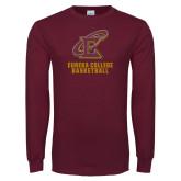 Maroon Long Sleeve T Shirt-Basketball