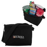 Six Pack Black Cooler-Eureka College w/ Shield