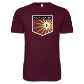 Next Level SoftStyle Maroon T Shirt-Shield