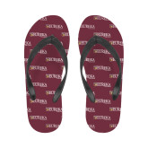 Ladies Full Color Flip Flops-Eureka College w/ Shield