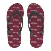Full Color Flip Flops-Eureka College w/ Shield