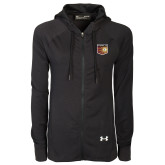 Ladies Under Armour Black Varsity Full Zip Hoodie-Shield