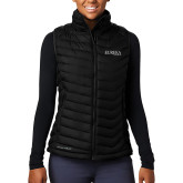 Columbia Lake 22 Ladies Black Vest-Wordmark