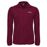 Fleece Full Zip Maroon Jacket-Wordmark