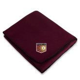 Maroon Arctic Fleece Blanket-Shield
