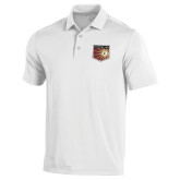Under Armour White Performance Polo-Shield