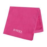 Pink Beach Towel-Wordmark