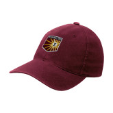 Maroon Flexfit Mid Profile Hat-Shield