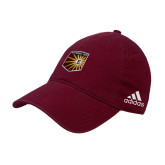 Adidas Maroon Slouch Unstructured Low Profile Hat-Shield